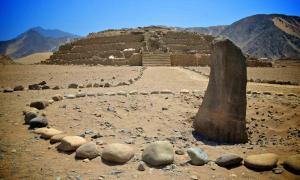 Una escena del vasto sitio Caral-Chupacigarro, patrimonio mundial de la UNESCO en Perú que defendía Ruth Shady.