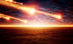 Lluvia de meteoros taurida hace 13.000 años. Fuente: IgorZh / Adobe.