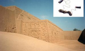 Chan Chan, Perú (Wikimedia Commons). Recuadro: El enigmático dispositivo de comunicación antiguo. Crédito: Museo Nacional Smithsonian del Indio Americano