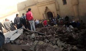 Los rescatistas encontraron tres muertos y varios heridos en el colapso del antiguo monasterio en Egipto. Fuente: Youssef Sidhom.