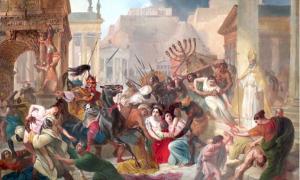 El saqueo de Roma por los vándalos cambió dramáticamente la dieta de los habitantes de Portus. Fuente: Karl Bryullov / Dominio público.