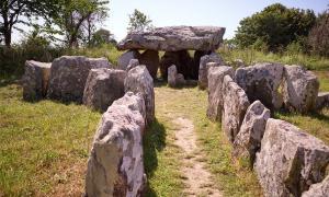 El dolmen de Faldouet es uno de los varios dólmenes de Jersey neolíticos. Es una tumba de pasaje neolítico ubicada cerca de San Martín y un punto culminante para los visitantes de la isla.