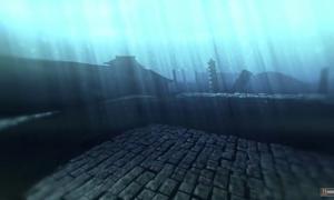 reconstrucción digital de algunas de las ruinas submarinas del lago Fuxian, China.