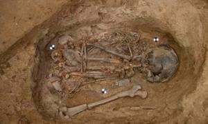 Un antiguo esqueleto infantil. Solo representativo, no el esqueleto encontrado en Turquía. Crédito: Scott Haddow / Flickr