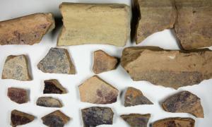 la cerámica fenicia muestra evidencia de que la fábrica de tinte de concha produce tinte bíblico. Fuente: Universidad de Haifa / Fair Use.
