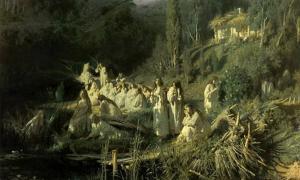 Similar a banshee y bean nighe de la leyenda celta, en el folclore eslavo, las vilas y rusalkas eran espíritus femeninos peligrosos, almas de mujeres jóvenes que habían muerto prematuramente. Wikipedia