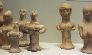 figurillas de pilares de Clay Judean en Jerusalén, Israel. Fuente: Chamberi / CC BY-SA