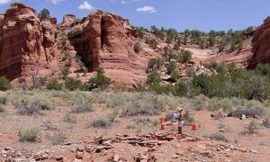 Las excavaciones de hogares antiguos y el estudio de huellas dactilares en Nuevo México revelan que hombres y mujeres estaban igualmente involucrados en la producción de cerámica doméstica. Fuente: : John Kantner / UNF.