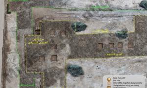 sitio de excavación de la fortaleza en Sinaí. Fuente: Ministerio de Antigüedades