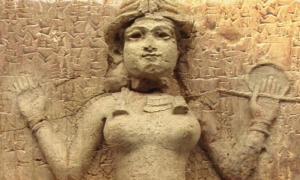 """Deriv; Famoso relieve del antiguo período babilónico (ahora en el museo británico) llamado """"alivio de Burney"""" o """"alivio de la Reina de la Noche"""". (Dominio público), tableta cuneiforme c. Siglo 24 AEC (Dominio público)"""