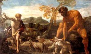 Norandino y Lucina, de Giovanni Lanfranco, descubiertos por el ogro, 1624. En muchas sociedades, los gigantes formaron parte de la sabiduría recibida durante mucho tiempo. Fuente: Amcaja / Dominio público.