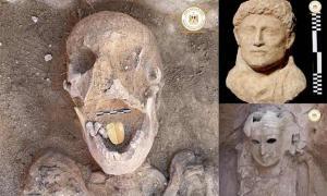 La momia con la lengua dorada y otros hallazgos recientes del sitio de Taposiris Magna.
