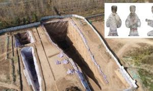 Los arqueólogos han encontrado acumulaciones de objetos que incluyen figurillas de cerámica y ropa de jade en un emocionante descubrimiento de tumbas del período Han. Fuente: Instituto Xi'an de Reliquias Culturales y Arqueología / RT