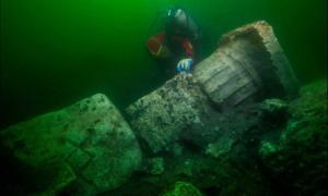 Se han encontrado restos del templo en Heracleion Fuente: (Christoph Gerigk - Frank Goddio / Fundación Hilti / Autoridad de Antigüedades de Egipto)