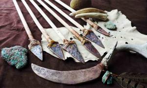 Herramientas de cobre de la antigua cultura del cobre de la región de los Grandes Lagos.