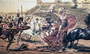 Fresco de la batalla de Troya. Crédito: quasarphotos/ Adobe Stock