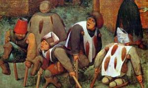 """La pintura de Pieter Bruegel el Viejo, titulada The Cripples, muestra a las víctimas de la enfermedad del """"Fuego Sagrado"""". Fuente: Pieter Brueghel el Viejo / Dominio público"""