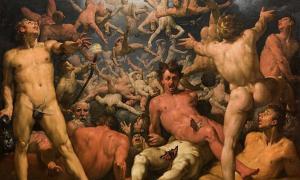 """""""La caída de los titanes"""" (1588-1590) de Cornelis van Haarlem. Fuente: dominio público"""