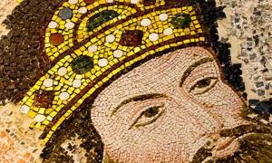 Mosaico del emperador bizantino Isaac I Komnenos