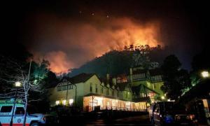 región de Jenolan en llamas. Crédito: Página de Facebook de Jenolan Caves RFS