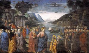 ¿Jesús sabía leer y escribir? Jesús hablando con Los Doce Apóstoles Fuente: Domenico Ghirlandaio / Dominio público