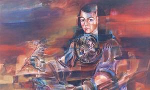 Juana Inés de la Cruz Pintura de Mauricio García Vega.