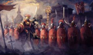 Una legión romana y su general.