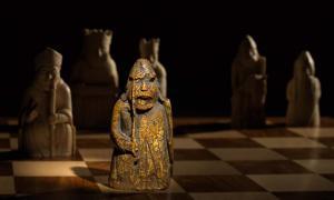 La pieza de ajedrez medieval recién descubierta, uno de los Lewis Chessmen, había desaparecido durante casi 200 años. Fuente: Courtesy of Sotheby's.