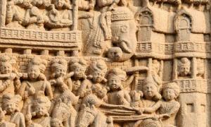 Procesión real que sale de Rajagriha (Rajgir), la primera capital del Reino de Magadha. Fuente: Bernard Gagnon / CC BY-SA 3.0