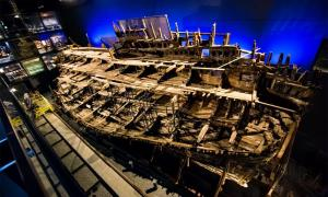 El barco Mary Rose conservado en exhibición. Fuente: Mary Rose Trust / Universidad de Warwick