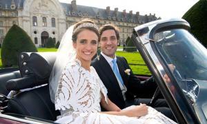 El matrimonio de élite de Jean-Christophe Napoleón Bonaparte y Olympia von und zu Arco-Zinnerberg. Fuente: BUNTE TV / Captura de pantallas deYouTube.