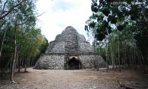 Cobá, en Quintana Roo, México, una vez fue gobernada por una reina guerrera maya. Fuente: Mauricio Marat / INAH