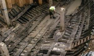 El barco medieval de Newport que se está excavando y restaurando. Fuente: Owain en el idioma inglés Wikipedia / CC BY-SA 3.0