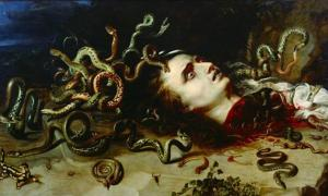 La cabeza de Medusa (dominio público)