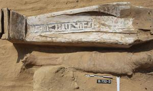 la mayoría de las momias de Saqqara estaban mal conservadas y tenían ataúdes en descomposición. Fuente: J. Dąbrowski / PCMA