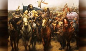 Los investigadores han descubierto los orígenes genéticos de los imperios nómadas en Mongolia. Aquí una representación de personas del imperio nómada de Xiongnu.