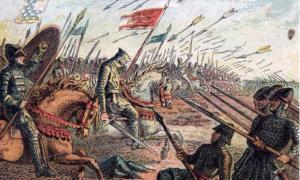 Influencias dietéticas normandas en Inglaterra después de la batalla de Hastings (en la foto) y la conquista normanda. Joseph Martin Kronheim (1810–96) / Dominio público