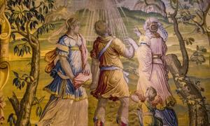 tapiz medieval en el castillo de Ecouen, Ecouen, Francia. Fuente: photogolfer/ Adobe Stock.