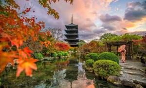 Pagoda Toji, Kioto. La pagoda Saiji fue similar en construcción. Fuente: f11photo/ Adobe Stock
