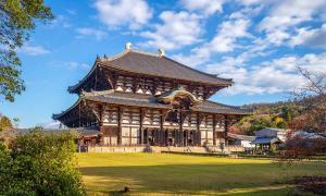 Gran Salón del Buda del templo Todai-ji en Nara, el edificio más grande del mundo durante mucho tiempo.