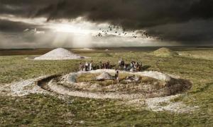 Túmulo prehistórico. Fuente: Inglaterra histórica