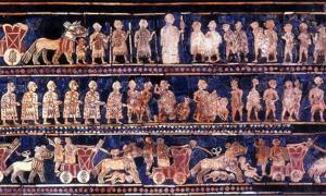 Estándar del mosaico de Ur, siglo 26 aC.