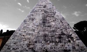 La pirámide de Cestius, Roma