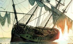 La venganza de la reina Ana fue deliberadamente varada por Barbanegra. Fuente: Mareas de guerra