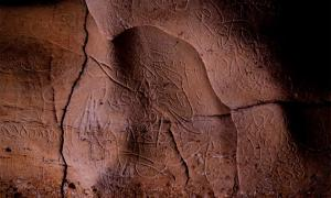 Arte rupestre paleolítico encontrado en las paredes de la Cueva Mayor de La Fuente cerca de L'Espluga de Francolí Fuente: Generalitat de Catalunya