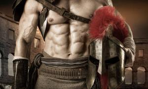 Un antiguo gladiador romano.