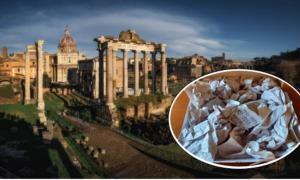 El Foro Romano. (Ivan Kurmyshov / Adobe Stock) Insertar: La pieza de mármol romano robada regresó a Italia. (Museo Nazionale Romano)