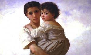 'Young Gypsies' (1879) de William-Adolphe Bouguereau. La familia es fundamental para la supervivencia de la cultura del pueblo romaní.