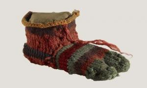 calcetín del pie izquierdo del niño (Museo Británico)