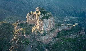 Una vista aérea de la roca de Bentayga, isla de Gran Canaria. Crédito: Ioannis Syrigos